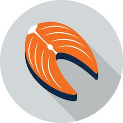 Vector tuna slice icon