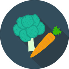 Vector vegetables icon