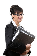 business lady with folders