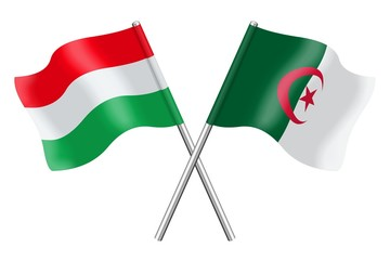 Flags: Hungary and Algeria