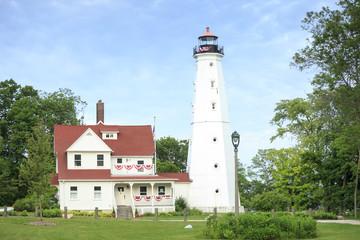 Lighthouse in Milwaukee, Wisconsin