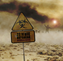 zombies desert sign