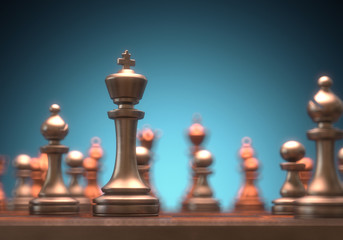 Chess King Piece. Clipping path on the King.