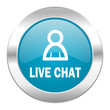 canvas print picture - live chat internet icon