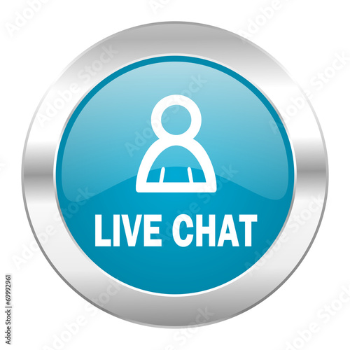 canvas print picture live chat internet icon