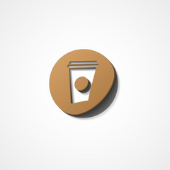 Disposable coffee cup web icon