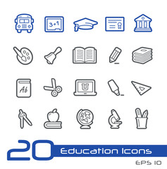 Education Icons -- Line Series