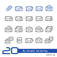 E-mail Icons -- Line Series