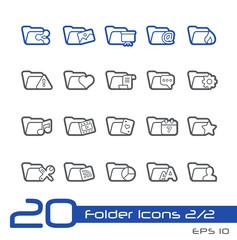 Folder Icons - 2 of 2 -- Line Series