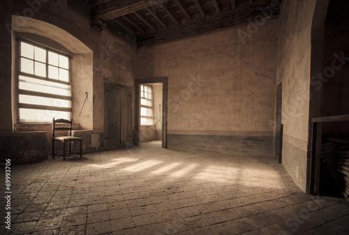 canvas print picture Salone del castello di Roddi