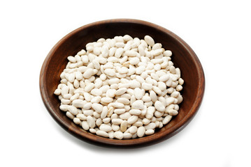 Healthy Dried Great Northern Beans in a Bowl