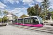 Leinwandbild Motiv Modern tram in Dijon