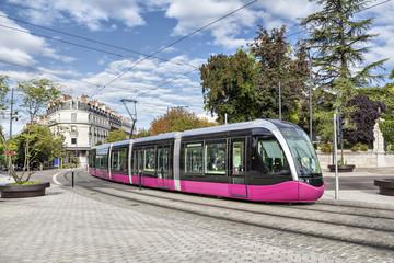 Modern tram in Dijon