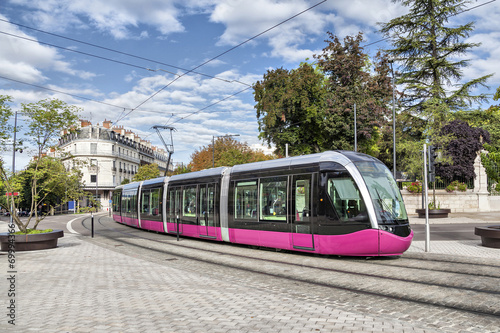 Modern tram in Dijon - 69994366