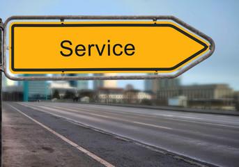 Strassenschild 14 - Service