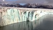 Ice Calving From The Tidewater Glacier In The Arctic