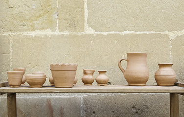 Handmade clay pots