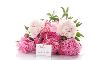 bouquet of peonies blooming