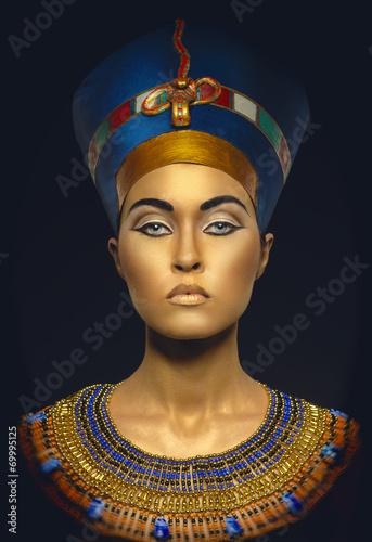 Leinwanddruck Bild Beauty shot in Egyptian style