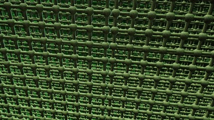 Abstract grid in green color