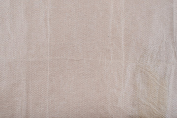Old Texture of rough crumpled craft brown recycled vintage aged