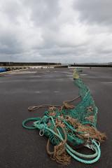Fischernetz am Kai