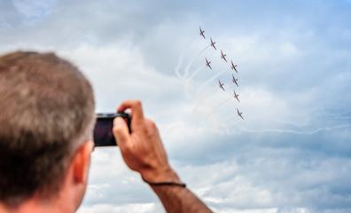 photographe et meeting aérien