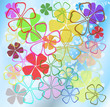 Flowers pattern.Vector
