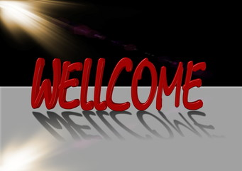 wellcome text