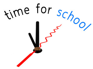 Time for School with clock concept
