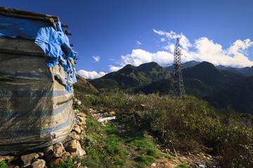 View from the Tram Ton Pass near Sapa. Sapa, Vietnam