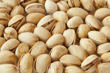 Background of dried pistachios