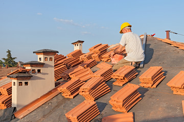 roof tile installation