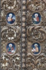 Fragment of the church door