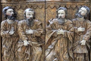 Part of carved wooden door