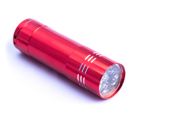 Red small flashlight