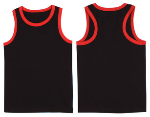 Sleeveless unisex shirt front and back view