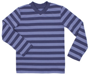 Striped sweater for children isolated on white