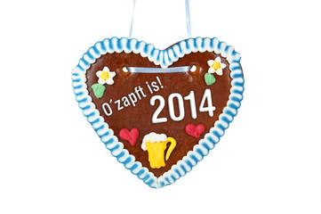 Lebkuchenherz mit O´zapft is 2014