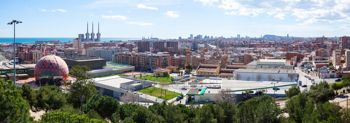 Badalona and Barcelona from high point