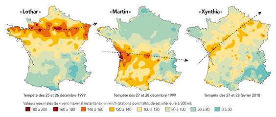 France - Les tempêtes récentes