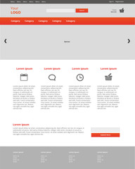 Graphic web template of Internet business. Clear web desig