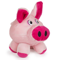 Soft pink toy pig