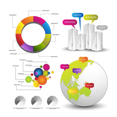 detailed elements of infographics