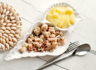 steamed octopus with potatoes recipe