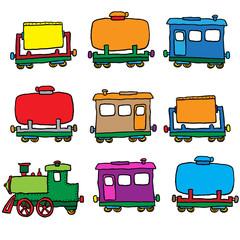 steam locomotive. vector illustration