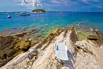 Stone beach of Island Hvar