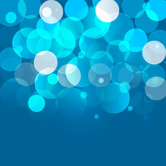 Blue bokeh background. Vector EPS10.