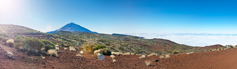 panorama of el teide national park