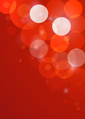 Red New Year bokeh background. Vector EPS10.